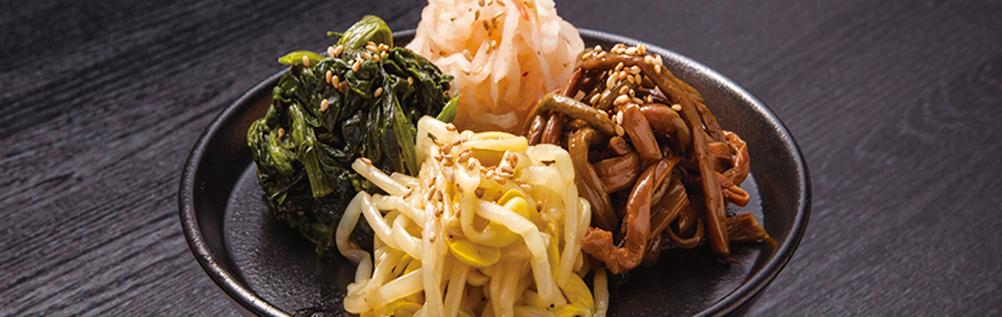 4种韩式拌菜拼盘